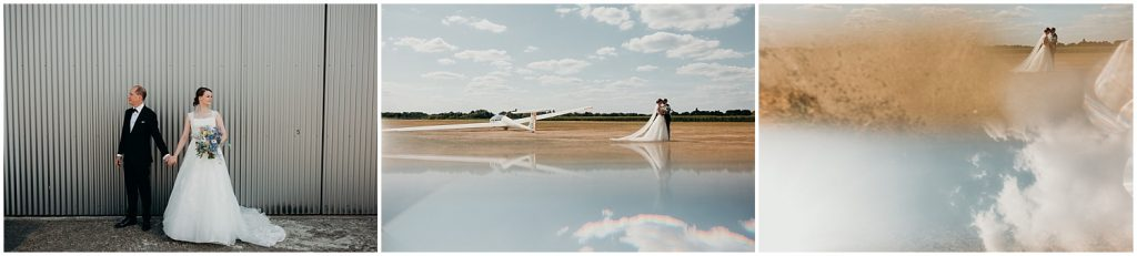 huwelijk zweefvliegtuig